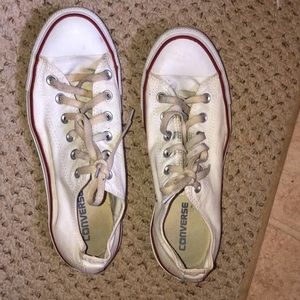 White unisex all star converse